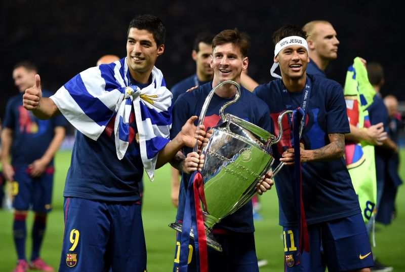 The acclaimed 'MSN' trio with their solitary UCL title