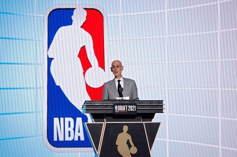 Adam Silver at the 2021 NBA Draft