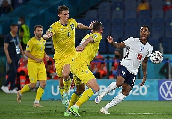 Ukraine were outclassed by England.