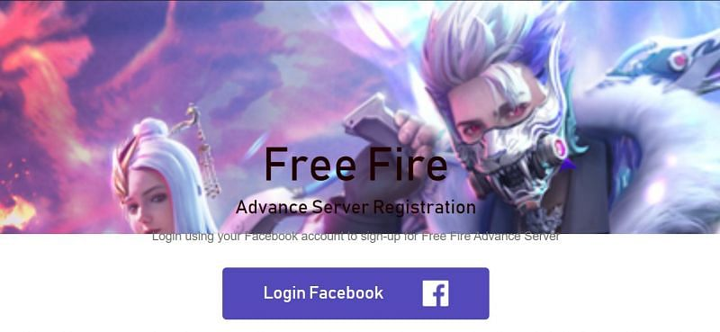 You should log in to the official website of Free Fire Advance Server (Image via Free Fire)