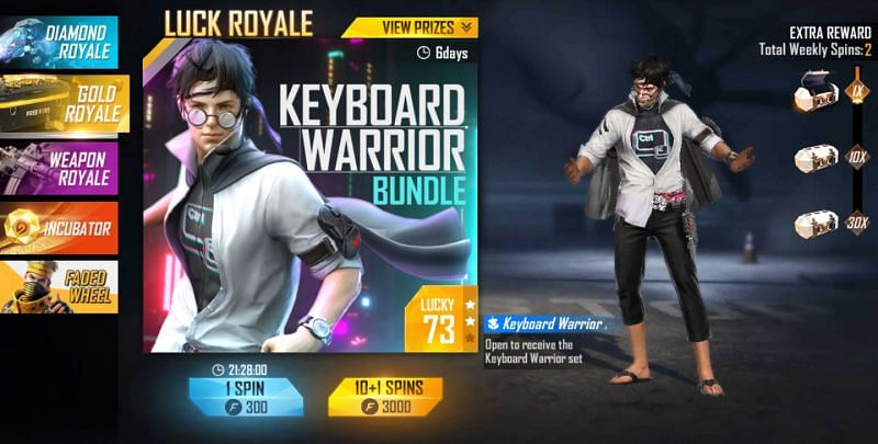The Grand prize in the Gold Royale is nearly the same in all servers (Image via Free FIre)