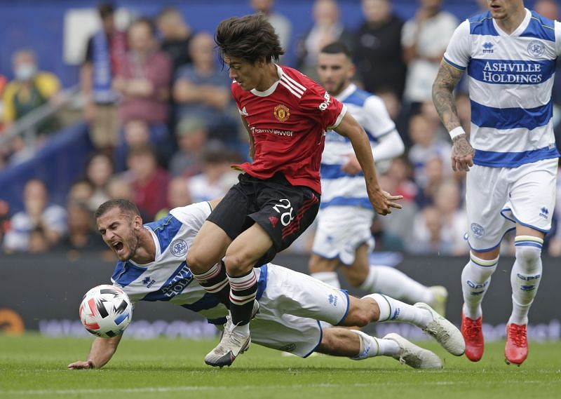 Manchester United's Facundo Pellistri in action