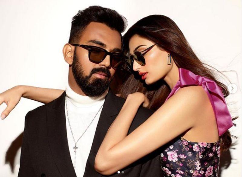 KL Rahul and Athiya Shetty. Pic: KL Rahul/ Instagram