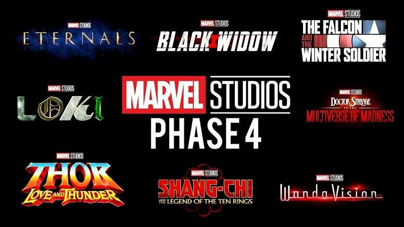 A few MCU projects from Phase 4 (Image via Marvel Studios)