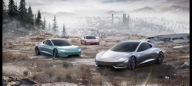 Tesla skin for Dacia in BGMI (Image via Krafton)