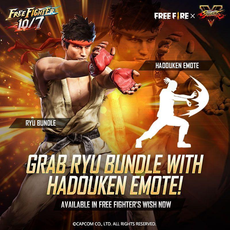 Grab Ryu bundle with Hadouken emote