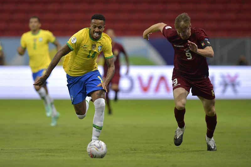 Militao scored his only Copa America 2021 goal vs Ecuador.