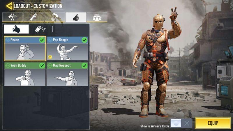 Emotes in Call of Duty Mobile ( Image via Reddit)