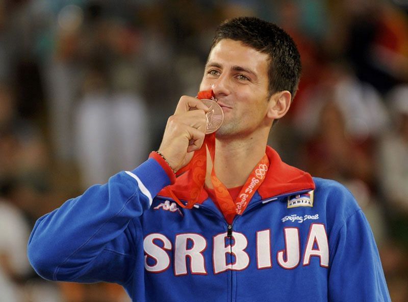 Novak Djokovic won bronze at the 2008 Beijing Olympics