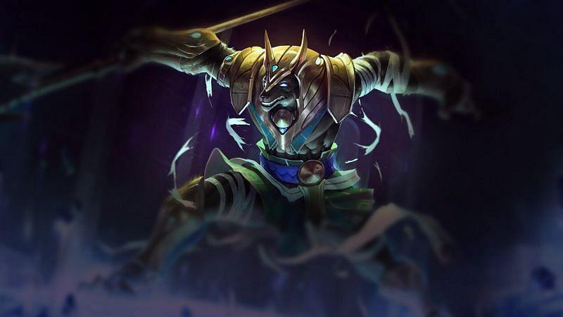 Nasus, yeterli çiftliğe sahip öldürülemez bir tanrı olabilir (Resim ile League of Legends)