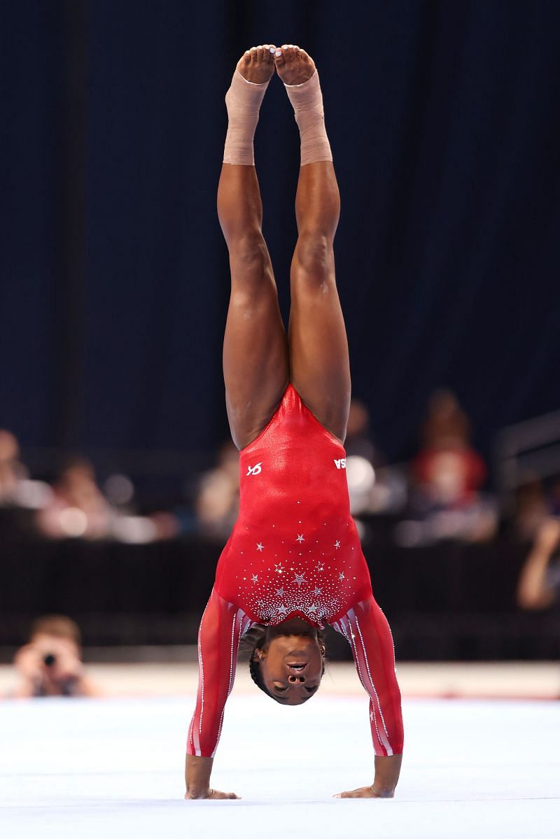 Simone Biles need to keep her calm at the Tokyo Olympics 2020 (Photo by Jamie Squire/Getty Images)