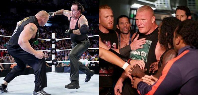 WWE दिग्गज अंडरटेकर और ब्रॉक लैसनर