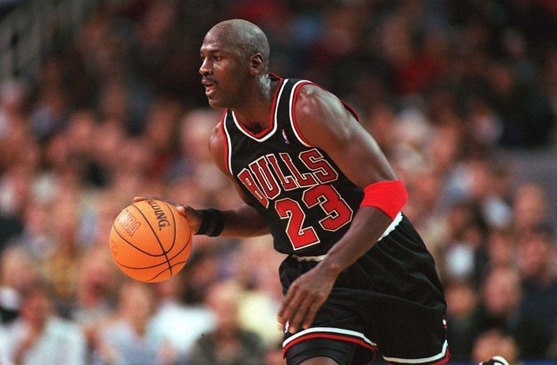 Michael Jordan with the Chicago Bulls.