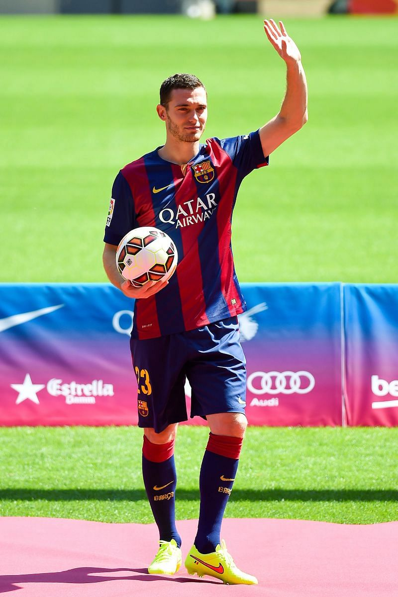 FC Barcelona unveiled Thomas Vermaelen in 2014