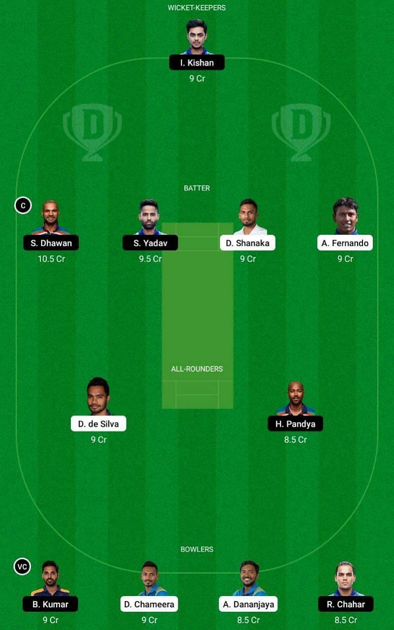 IND vs SL 1st T20I Dream11 Fantasy Tip #1