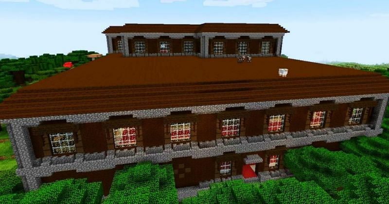 Huge Woodland Mansion (Image via Minecraft)