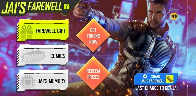 Players can redeem Jai with magazine tokens