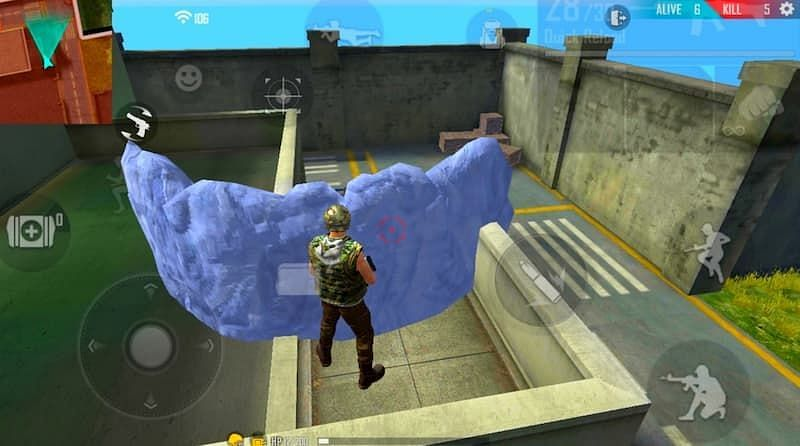 Gloo walls can be deployed as players try to get close to enemies in a shelter (Image via Garena Free Fire)