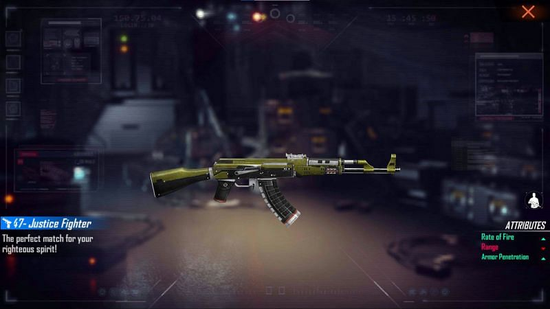 The AK47 - Justice Fighter (Image via Free Fire)