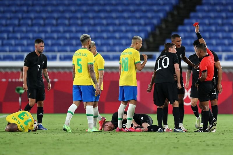 Germany were soundly beaten by Brazil in their opening game