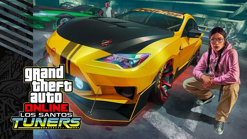 The official art for GTA Online's Los Santos Tuners update (Image via Rockstar Games)