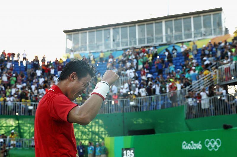 Nishikori won the bronze medal in Rio 2016