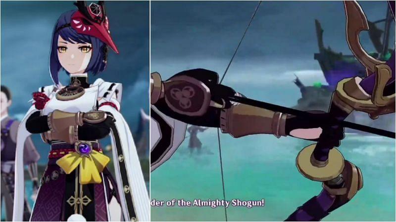 Kujou Sara in Genshin Impact 2.0 (Image via miHoYo)