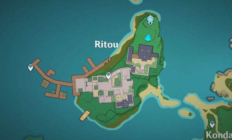 Location of the small camp on the map (Image via Genshin Impact)