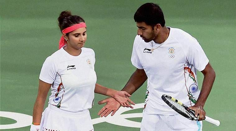 Sania Mirza & Rohan Bopanna at the 2016 Rio Olympics semifinals