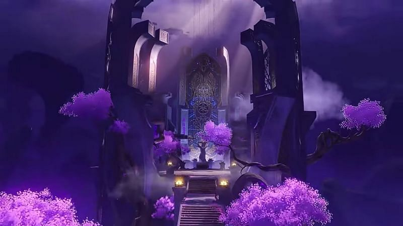 Beautiful view inside one of the domains (Image via miHoYo)