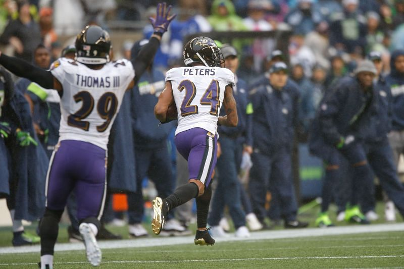 Marcus Peters - Baltimore Ravens v Seattle Seahawks