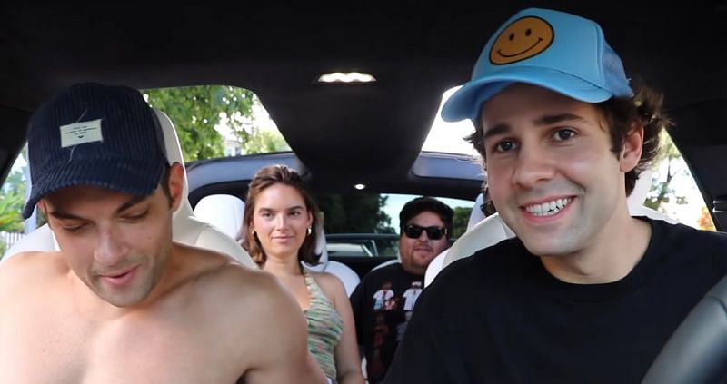 David Dobrik and the Vlog Squad tell tickets to hangout at a party (Image via YouTube)