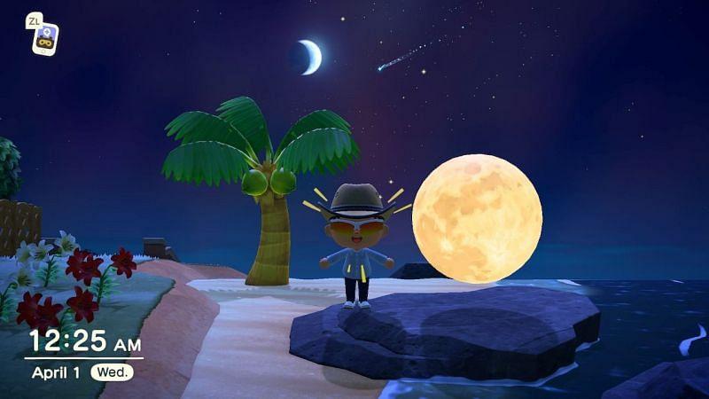 Evento del día de avistamiento de la luna en Animal Crossing: New Horizons (Imagen a través de Reddit)