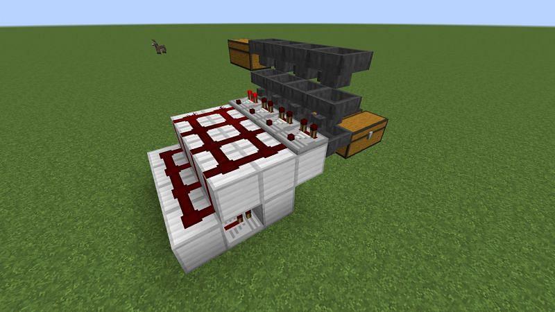 A simple and small item sorter (Image via minecraftforum)