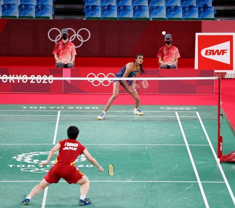 PV Sindhu became the first Indian to make it to her second consecutive Olympic semifinals in the individual badminton event at the Summer Games in Tokyo