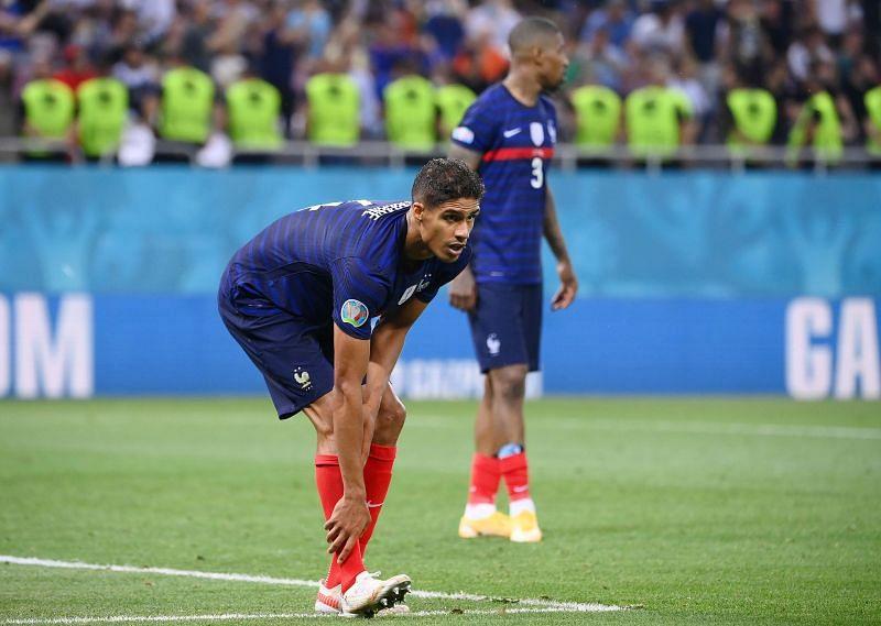 Raphael Varane in action for France