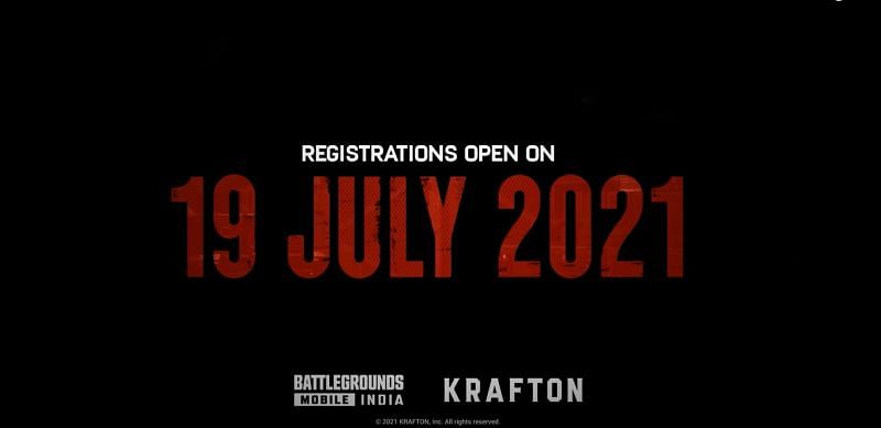 The registrations will be opening soon (Image via Krafton)