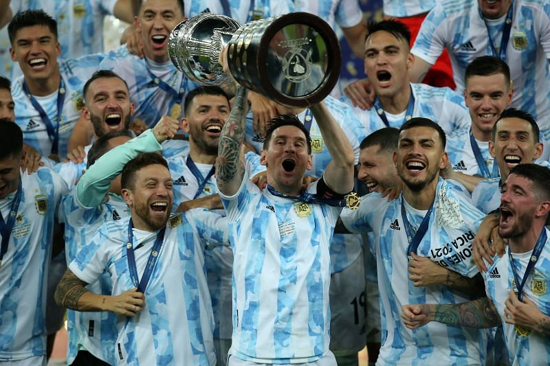 Lionel Messi lifted the Copa America with Argentina. (Photo by Alexandre Schneider/Getty Images)