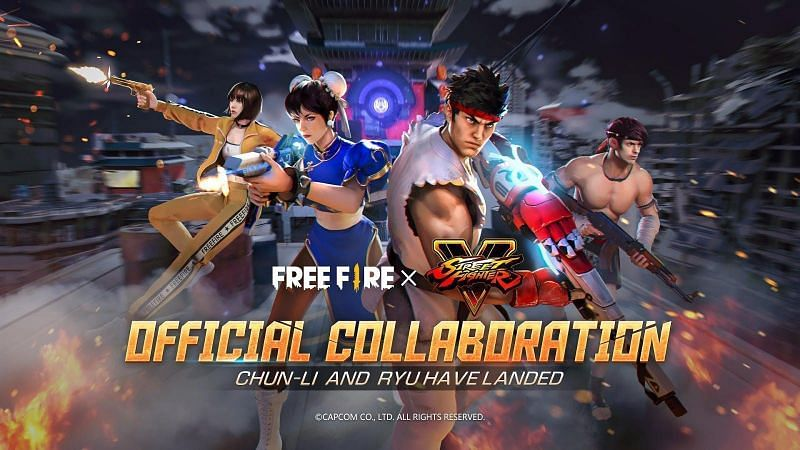 The Freefire x Streetfighter collaboration