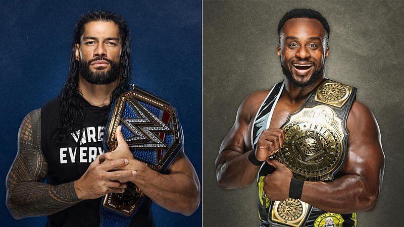 Roman Reigns (left); Big E (right)