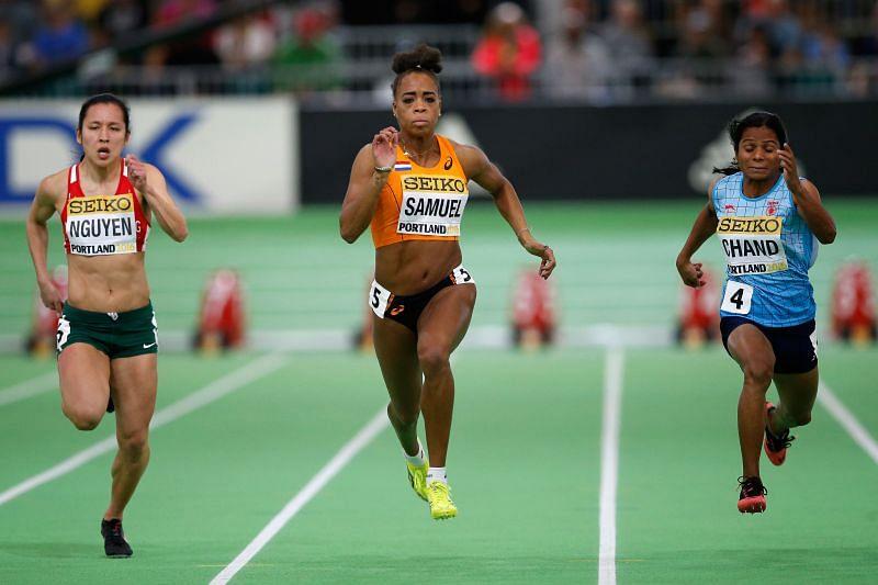 Dutee Chand at 2016 IAAF World Indoor Championships