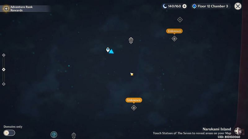 Locked map of Inazuma (image via LyurGG)