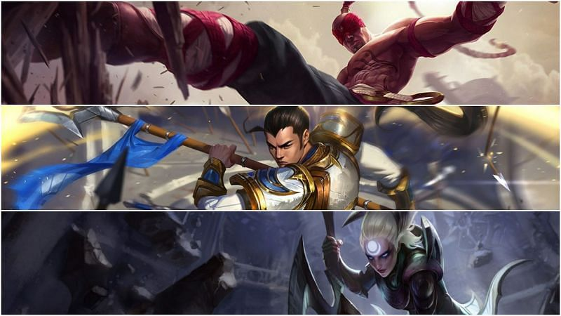 Diana, Lee Sin, and Xin Zhao are about to be nerfed in the 11.16 patch (Image via League of Legends)