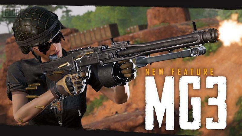 Battlegrounds Mobile India में न्यू MG3 गन
