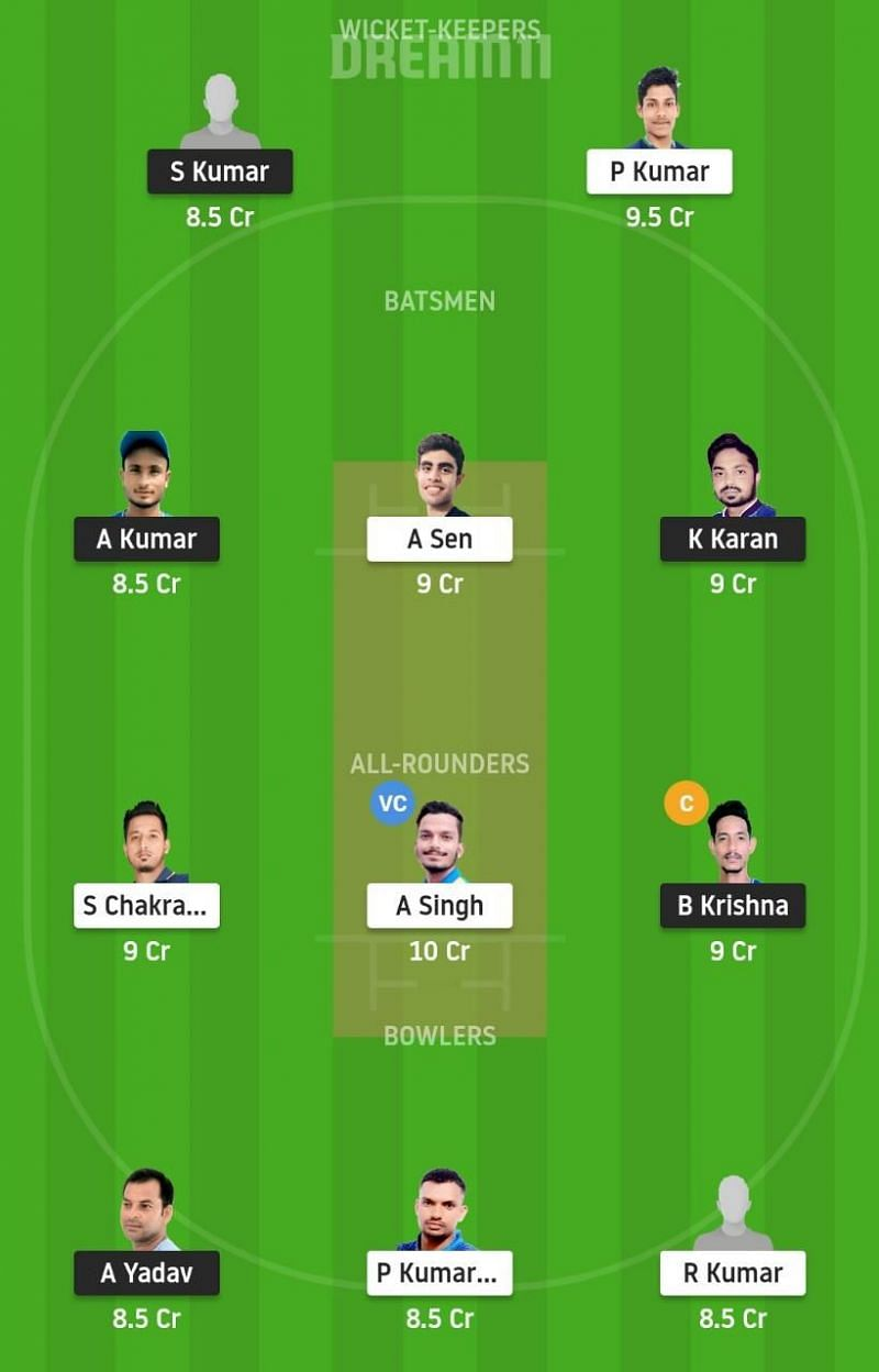 SIN vs RAN Dream11 Tips - Jharkhand T20