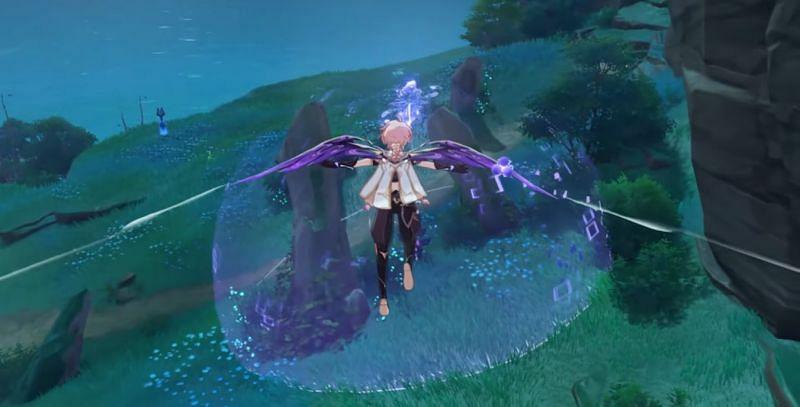 Thunder Barrier with Thunderstone in Genshin Impact 2.0 Livestream (Image via Mihoyo)