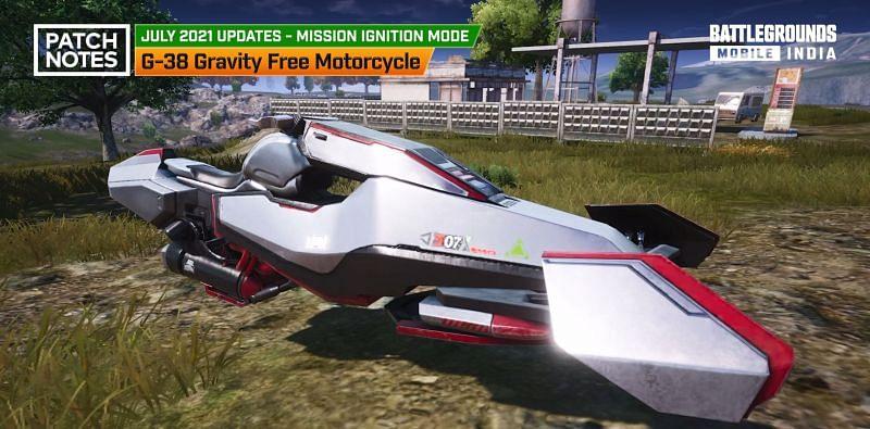 G-38 Gravity Free Motorcycle (Image via Battlegrounds Mobile India)