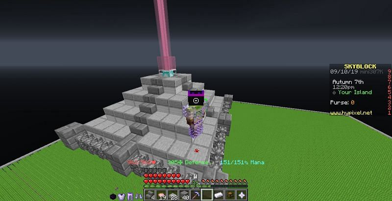 Minecraft players have documented all the ways to get most of the materials in Hypixel Skyblock (Image via Mojang)