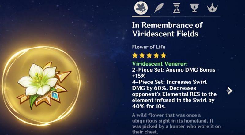 Viridescent Venerer set bonus (image via Genshin Impact)