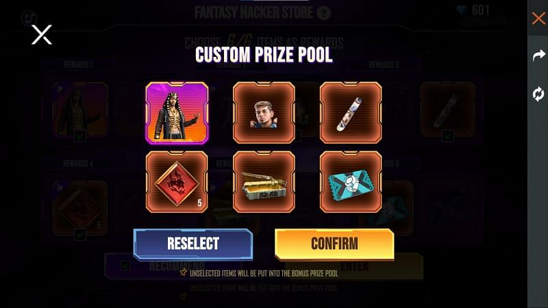 Click the confirm button to proceed (Image via Free Fire)